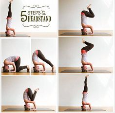 5 Steps To A Head Stand fitness exercise yoga health home exercise yoga poses exercising exercise tutorials yoga for beginners headstand