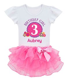 Look at this Personalized Planet White & Pink Personalized Tee - Toddler & Girls on #zulily today!