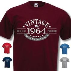 50th Birthday Vintage Year T-Shirt - Funny Novelty Gift Ideas for Men Him - New