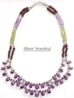 semi precious stone jewelry | ... Necklaces Silver Precious Semi Gemstones Precious Beads commitment