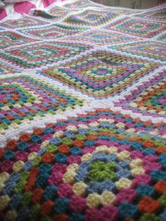 Lovely crocheted blanket.
