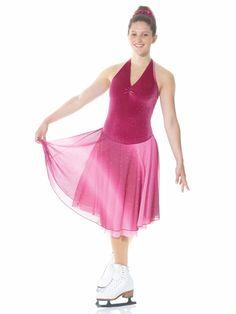 New Mondor skating dance dress cosmic mauve red pink shades girl Mauve, Skate Wear, Figure Skating Dresses, Ombre Color, Dance Dresses, Red And Pink, Cosmic, Dress Skirt, Chiffon