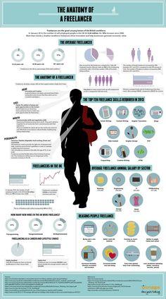 The Anatomy of a Freelancer   #infographic #Freelancer #Career