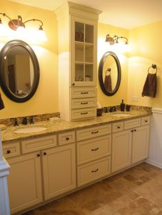 Master Bathroom Cabinets. Love this color for our remodel.