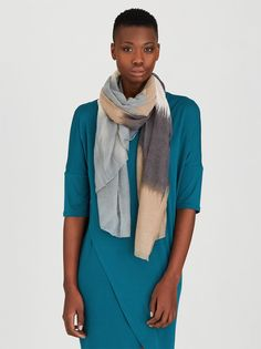Ombre Scarf Mid Brown