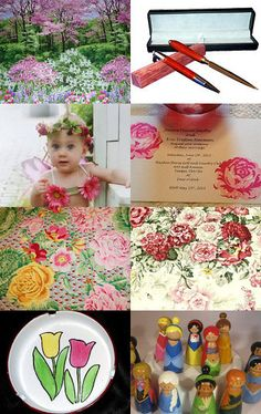 Flowers In My Garden by Elizabeth Berry on Etsy--Pinned with TreasuryPin.com