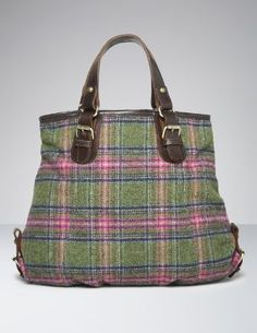 Boden Fall Wishlist :: Hand Held Tweed Tote, Green Multi Check :: $98