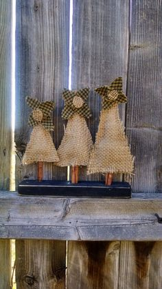 Burlap Christmas/Winter trees by sawitforyou on Etsy, $16.00
