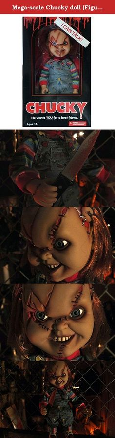 "Mega-scale Chucky doll (Figure) killer ""Chucky"" in the immobility of fear 15-inch-horror cinema Bride of Chucky Play with Sound. It's shipped off from Japan."
