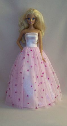 Handmade Barbie Clothes Pink Satin Barbie by PersnicketyGrandma, $12.00