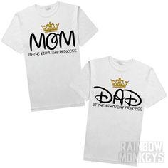 Mom Of The Birthday Princess Girl Shirt By RMonkeys