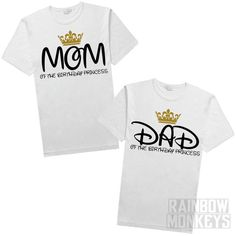 Mom of the Birthday Princess Girl Birthday Shirt by RMonkeys
