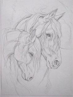 pencil drawing of two horses  (scheduled via http://www.tailwindapp.com?utm_source=pinterest&utm_medium=twpin)