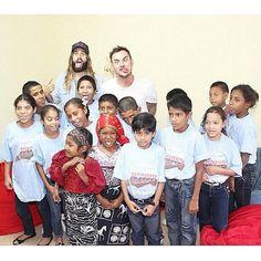 Jared and Shann with kids. #aidforaids #panama
