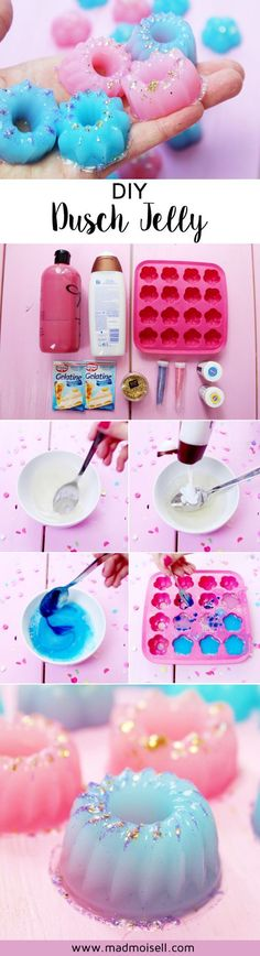 Make DIY Shower Jelly in the Lush Style - Simple Instructions! - - DIY Dusch Jelly im Lush-Style selber machen – Einfache Anleitung! Make DIY shower jelly in the Lush Belleza Diy, Shower Jellies, Bath Jellies, Presents For Her, Diy Shower, Shower Gel, Diy Beauty, Beauty Tips, Beauty Hacks