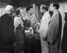 John Derek, Broderick Crawford, John Ireland, and Anne Seymour in All the King's Men (1949)