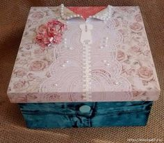 Decoupage Box, Jewellery Boxes, Craft Box, Graphic 45, Small Boxes, Painting On Wood, Scrap, Gift Wrapping, Stencils