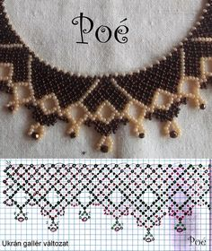 ) awesome tutorials by Poe Diy Necklace Patterns, Seed Bead Patterns, Beaded Jewelry Patterns, Beading Patterns, Necklace Tutorial, Beads Tutorial, Beaded Collar, Seed Bead Necklace, Handmade Beads