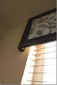 DIY valance from old picture frame
