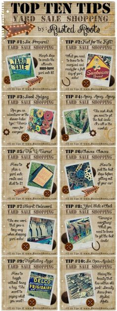 Ten Awesome Tips to Score the Best Finds at Yard Sales #RustedRoutes