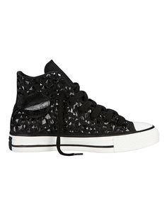 black bedazzled chuck taylors by Converse, $85 | Hudson's Bay