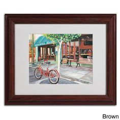 Colleen Proppe 'Coffee Shop' Framed Matted Art
