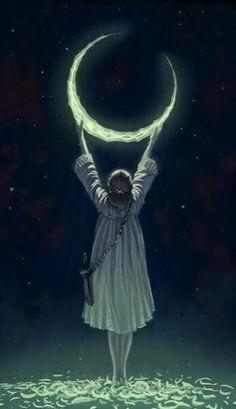 33 trendy ideas for drawing moon moonlight dreams Sun Moon Stars, Good Night Moon, Moon Magic, Beautiful Moon, Moon Goddess, Moon Art, Moon Child, Wicca, Fantasy Art