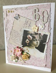 Randis hobbyverden: Rosa vintage kort med Maja Design