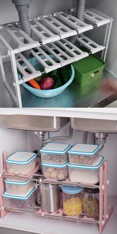 Under Kitchen Sink Organization, Under Kitchen Sinks, Countertop Organization, Diy Kitchen Storage, Home Organization, Kitchen Organizers, Bathroom Vanity Organization, Under Cabinet Storage, Medicine Cabinet Organization
