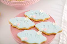 Cookies from a Belle & Boo Bunny + Hot Air Balloon Party via Kara's Party Ideas   KarasPartyIdeas.com (34)