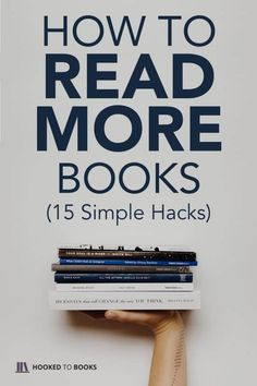 How to Read More Books: 15 Simple Hacks So many books to read, so little time! Luckily for book lovers, reading more books is easy. Here are 15 simple hacks for how to read more books. Reading Counts, Reading Goals, Reading Tips, Speed Reading, Bedtime Reading, Book Challenge, Reading Challenge, Book Club Books, Book Lists