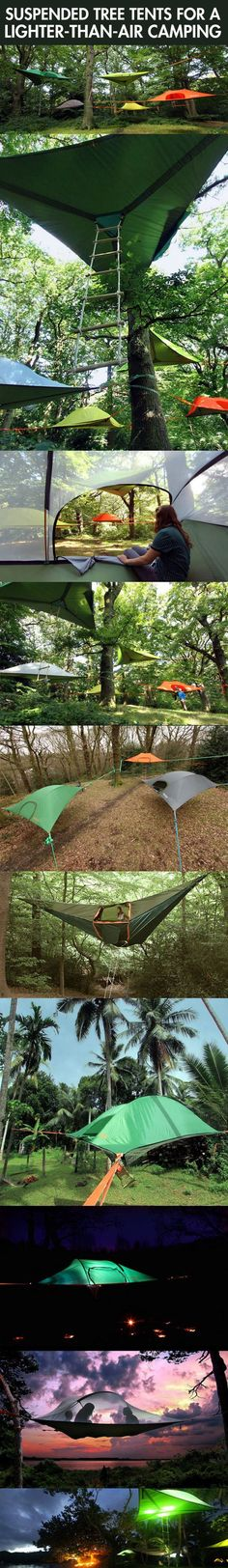 Suspended tree tents! I would actually enjoy camping