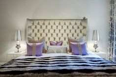 Headboard Thurman and bedside tables Hardy, both from Italian Meridiani, C Interior Design. Josephine Bedside Lamp by Jaime Hayon, Nordic Gallery. Glam Bedroom, Bedroom Decor, Bedroom Ideas, Master Bedroom, Swedish Bedroom, Interior S, Interior Design, Gold Home Decor, Layout