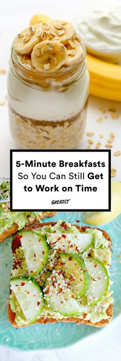 Less time cooking, more time getting dressed. #greatist http://greatist.com/eat/easy-breakfasts-that-take-5-minutes-to-make