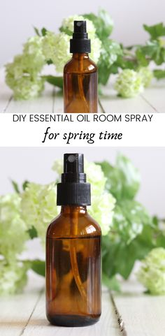 Learn how to make essential oil room spray for spring. Essential oil room sprays can bring the beautiful scent of spring into the home while receiving aromatherapy benefits. #roomspray #diyroomspray #essentialoils