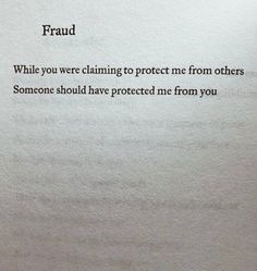 Protect me from you.