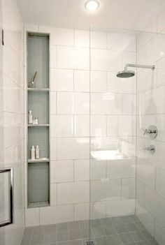 Image result for large white wall tiles bathroom
