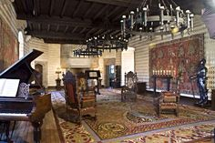 Great Hall on Second Level   Medieval Castle de Montbrun, Dournazac, Haute-Vienne, France