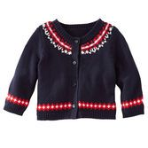 $20- A bit of color and a lot of warmth, this Fair Isle classic cardi is exactly what she needs on chilly days.<br>