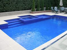 RECTANGLE SWIMMING POOLS WITH SPA - Google Search