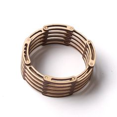 Links - Unique Flexible Shrinkable Laser Cut Wooden Bracelet by ardeola