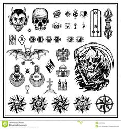 russian tattoos meanings - Google Search