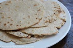 Easy Whole Wheat Flour Tortilla Recipe