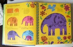 varka: Inspiration: Fiona Watt — 1000 things to make and do Fiona Watt, Waldorf Crafts, Crafts For Kids, Elephant, Children, Drawings, How To Make, Inspiration, Decor
