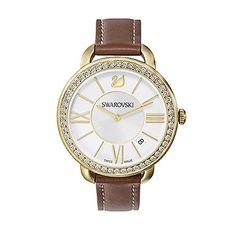 Aila Day Brown Yellow Gold Tone Watch
