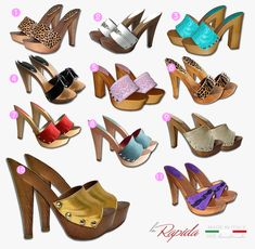 Clogs Shoes, Shoe Boots, High Heel Boots, High Heels, Wooden Sandals, Gorgeous Feet, Candies, Platform, Wedges