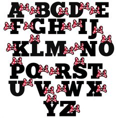 Polka Dot Bow Alphabet SVG scrapbook cut file cute clipart files for silhouette cricut pazzles free svgs free svg cuts cute cut files