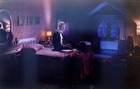 Winter mother on bed with blood by Gregory Crewdson// The colour and lighting make this feel quite surreal and imaginary, almost like its a dream.