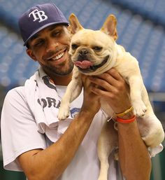 David Price and his Frenchie Astro