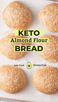 Keto Bread Rolls are perfect for sandwiches, burgers, or simple to enjoy with butter or to soak up sauces. These low carb rolls are made with high fiber psyllium husk and almond flour. No Bread Diet, Best Keto Bread, Low Carb Bread, Low Carb Keto, Keto Fat, Lowest Carb Bread Recipe, Paleo Bread, Bread Food, Keto Almond Bread